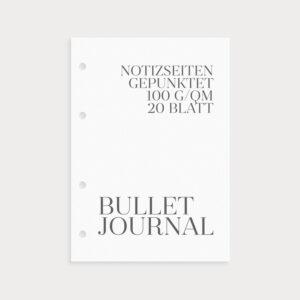 Bullet Journal Notizseiten gepunktet 100g/qm 20 Blatt