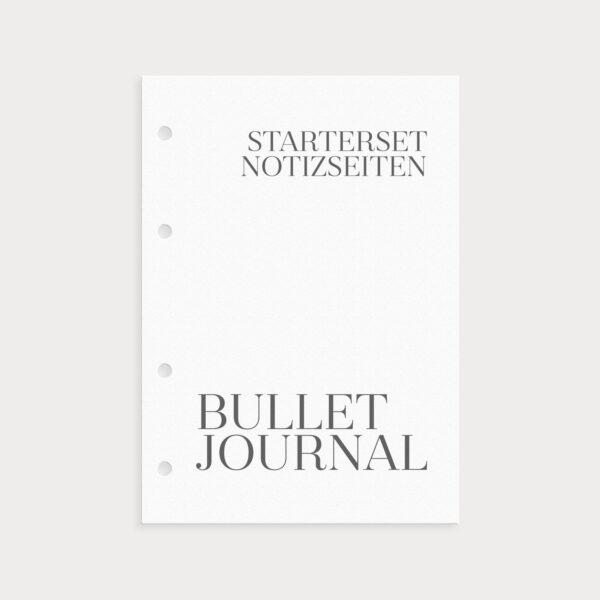 Bullet Journal Notizseiten Starterset Coverseite
