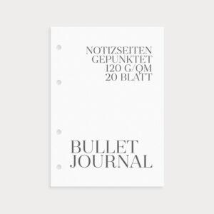 Bullet Journal Notizseiten gepunktet 120g/qm Coverseite