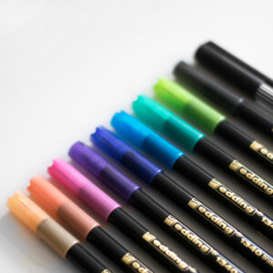 Edding Brush Pen Set Komplett mit Fineliner