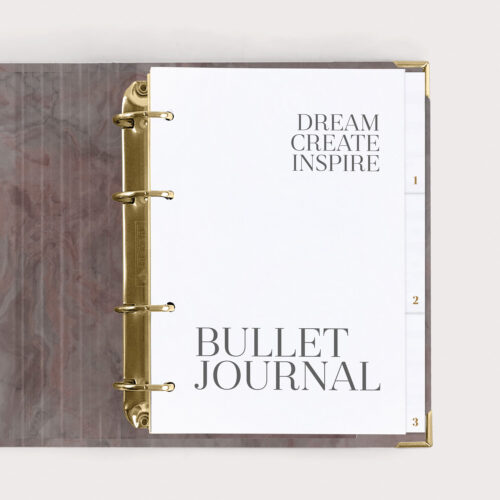 Bullet Journal Nude Dream Create Inspire