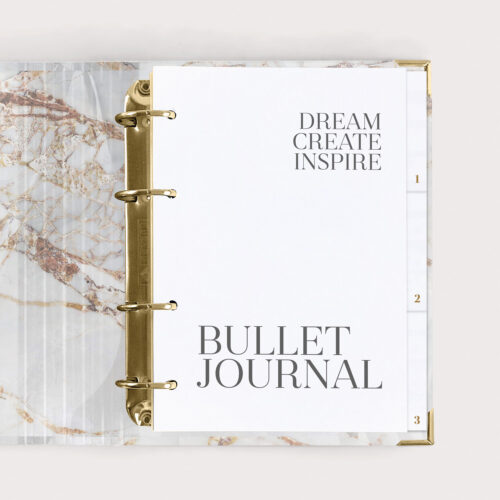 Bullet Journal White Ringbuch mit Bullet Journal Seiten