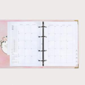 Familienplaner Aquarell mit Monatsübersicht Juli 2021