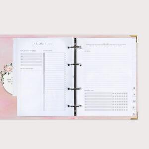 Familienplaner Aquarell mit Monatsübersicht für Juli 2021