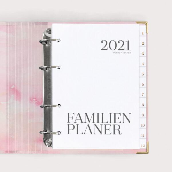 Familienplaner Aquarell 2021 Be Happy