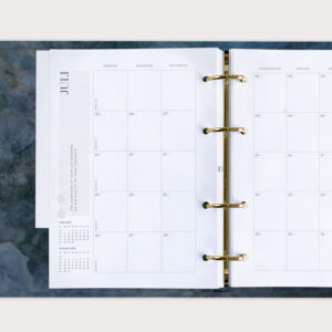 Familienplaner Midnight 2021 Monatsübersicht Juli