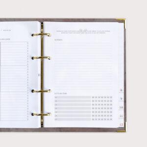 Familienplaner Nude mit To Do Liste und Notizen