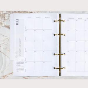 Familienplaner mit Monatsübersicht im Juli 2021