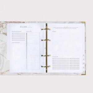 Familienplaner White mit Monatsübersicht To Do Liste und Notizen