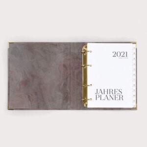 Jahresplaner Nude mit weißen Registern