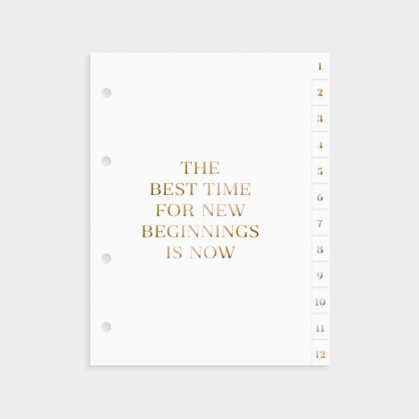 Register Weiß The best time for new beginnings is now