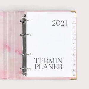 Terminplaner Aquarell im Ringbuch 2021