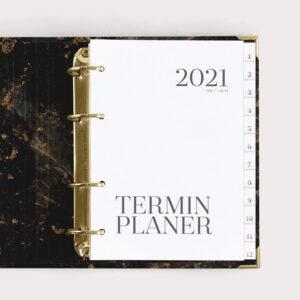 Terminplaner Black 2021