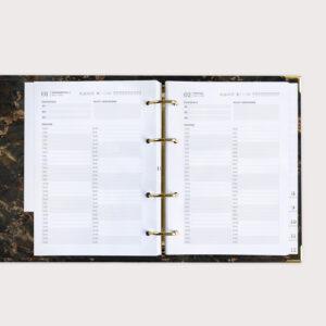 Terminkalender goldene Mechanik