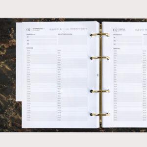 Black Progress Kalender Terminplaner