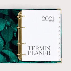 Terminplaner Greenery im Ringbuch 2021