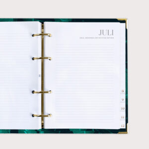 Monatsstart Julie Ringbuchplaner