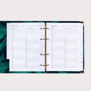 Greenery Terminkalender Doppelseite