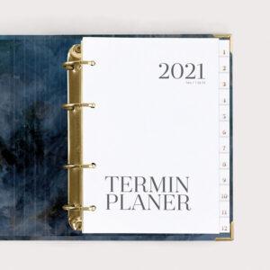 Terminplaner Midnight 2021 im Ringbuch