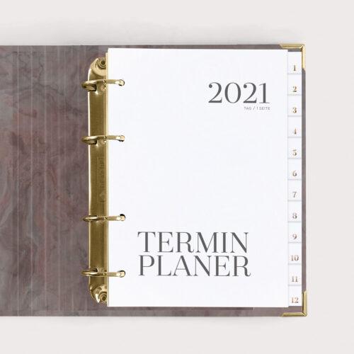 Terminplaner Nude 2021 mit Register