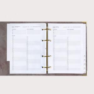 Übersicht Terminplaner Ringbuchplaner