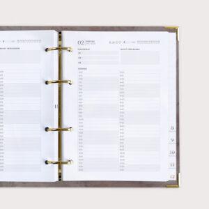 Goldene Details Terminkalender