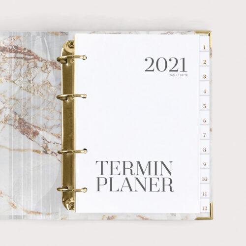Terminplaner White im Ringbuch 2021