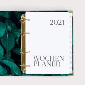 Wochenplaner Greenery 2021 mit Registern
