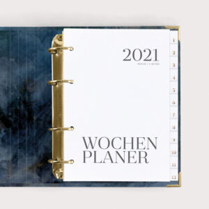 Wochenplaner Midnight 2021 im Ringbuch