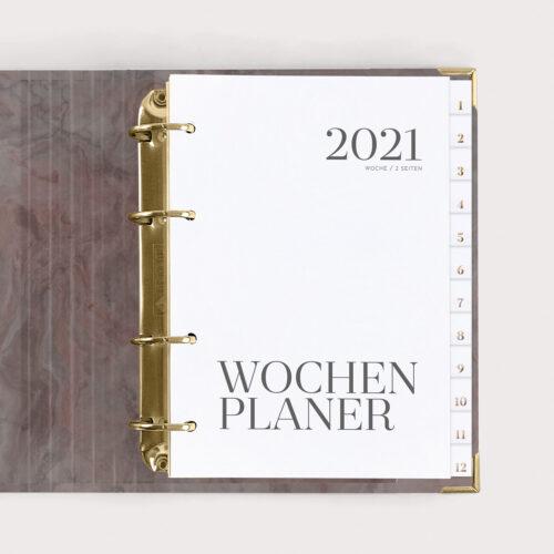 Wochenplaner Nude 2021 mit Register