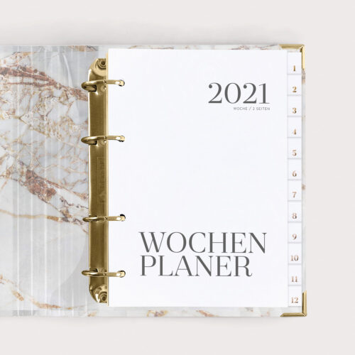 Wochenplaner White 2021 im Ringbuch