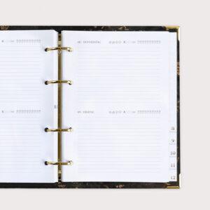 Jahresplaner Black Tagesplanung