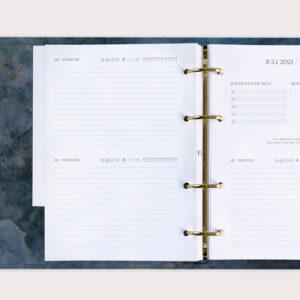 Jahresplaner Midnight 2021 im Ringbuch