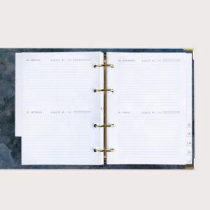 Jahresplaner Midnight im Ringbuch