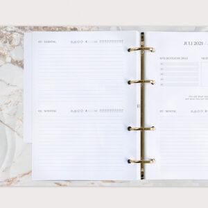 jahresplaner White im Ringbuch individuell zusammenstellen