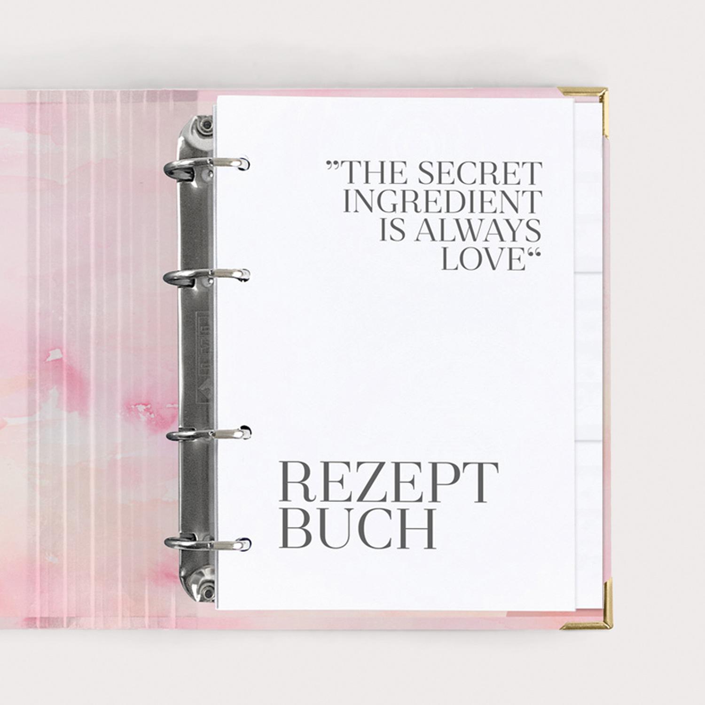 Rezeptbuch Aquarell im Ringbuch