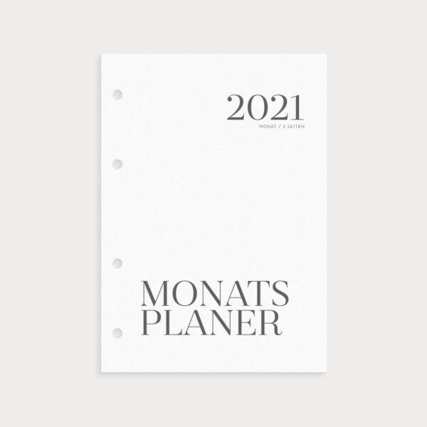 Monatsplaner 2021 zum Einheften