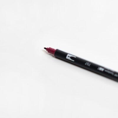 Tombow Brush Pen Port Red Handlettering