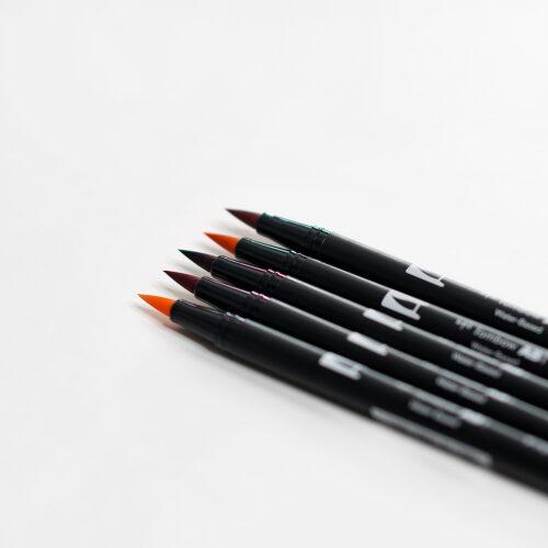 Tombow Brush Pen Set Aquarell in fünf unterschiedlichen Farben