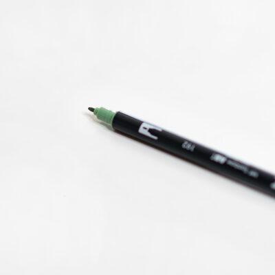Tombow Brush Pen Asparagus Brushlettering