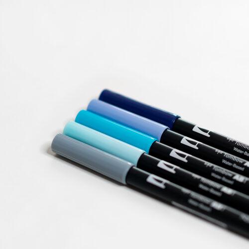 Tombow Brush Pen Set Midnight