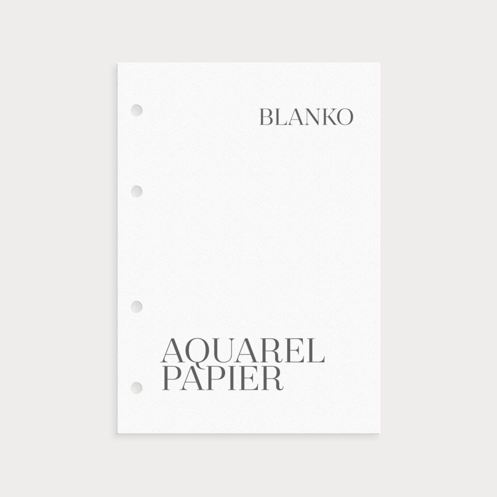 Aquarell Paper Blanko fürs Aquarellieren oder Watercolor