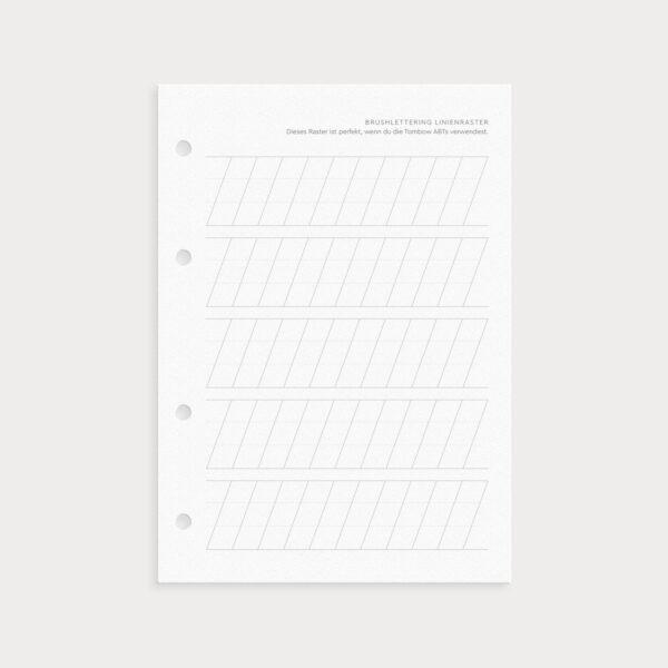 Brushlettering und Handlettering Linienraster zum Üben