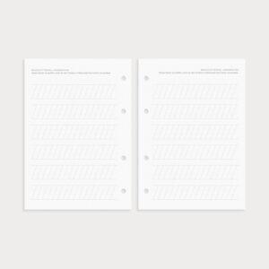 Brushlettering Linienraster zum Üben