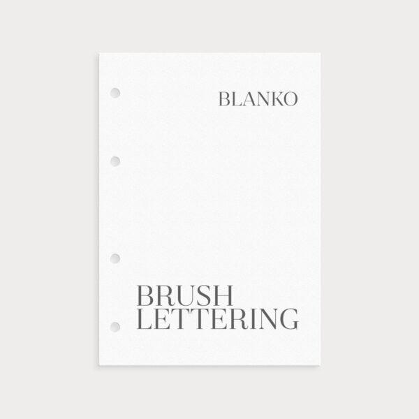 Brushlettering Blanko Papier zum Üben