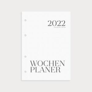 Kalenderseiten 2022 Wochenplaner