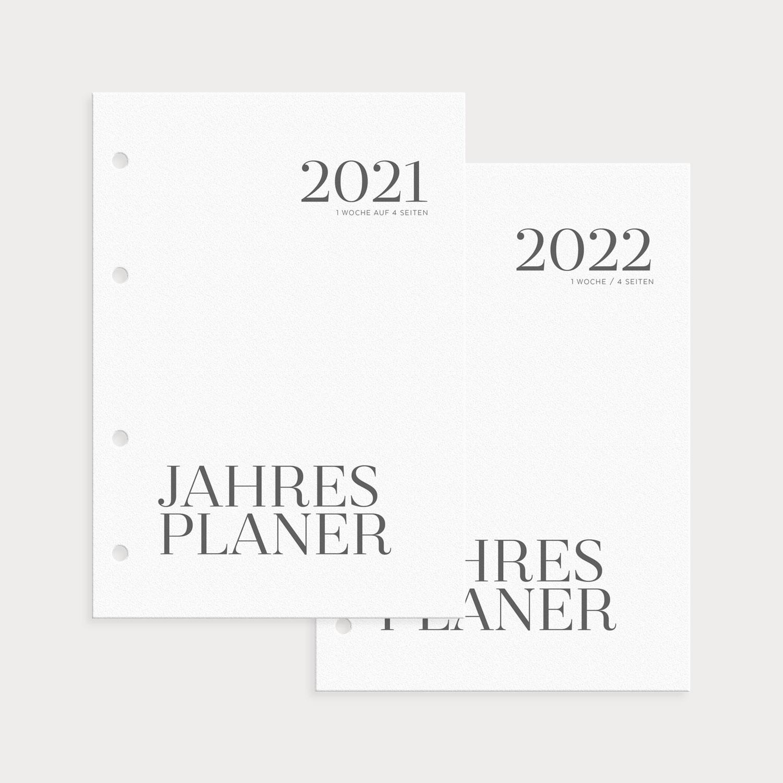 Kalenderseiten Jahresplaner 2021/2022