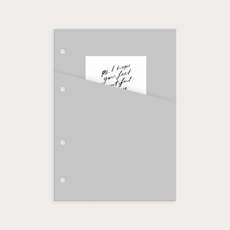 Tasche grau für Notizzettel