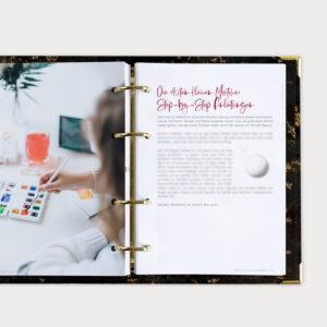 Watercolor Beginner Bundle Guide mit Step-by-Step Anleitungen