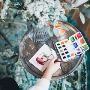 Watercolor Aquarellieren mit bunten Farben